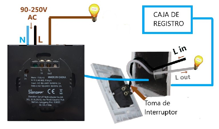 conexión interruptor wifi