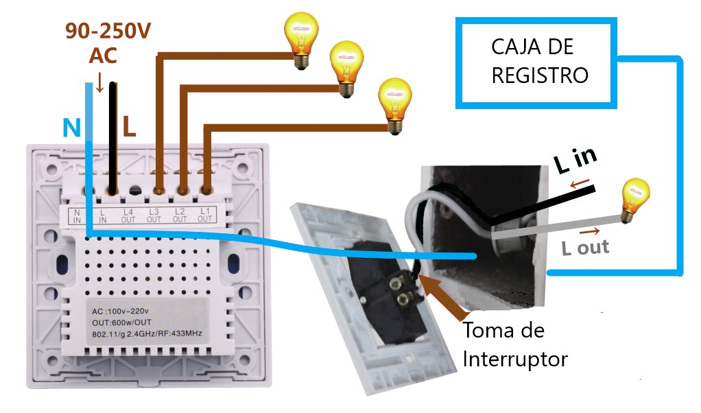 esquema interruptor wifi neutro